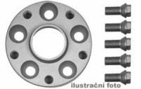 HR podložky pod kola (1pár) VOLVO 340 - 360 rozteč 100mm 4 otvory stř.náboj 52,1mm -šířka 1podložky 25mm /sada obsahuje montážní materiál (šrouby, matice)